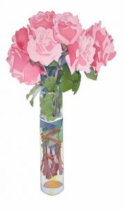 Tall Pink Rose Study